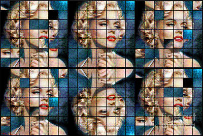 Marilyn Monroe Painting - Total-regal Mm 135 Six by Theo Danella
