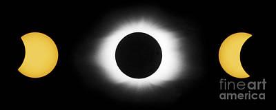 Total Solar Eclipse Sequence Art Print by John Chumack