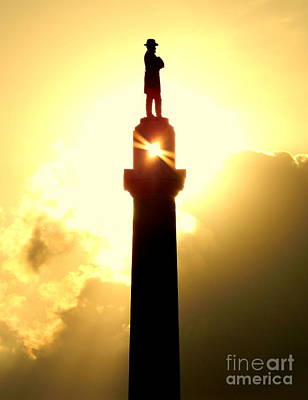 Photograph - Totality Of The Summer Solstice Of The Statue Of General Robert E. Lee In New Orleans Louisiana by Michael Hoard