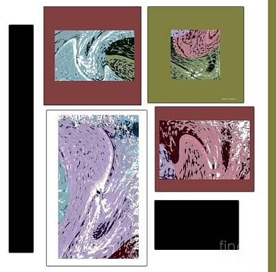 Mixed Media - Totally Modern by Ann Calvo