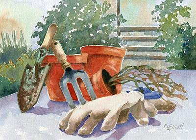 Spade Painting - Totally Parched by Marsha Elliott