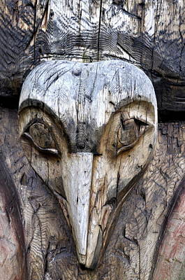 Totem Face Art Print by Cathy Mahnke