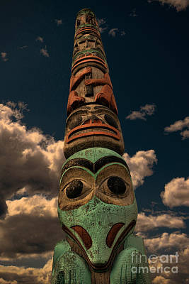 Photograph - Totem Pole Alaska by David Arment