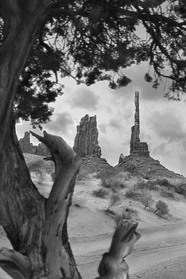 Totem Pole Photograph - Totem Pole - Arizona by Mike McGlothlen