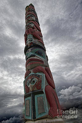 Photograph - Totem Pole In The Clouds by David Arment