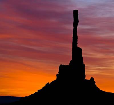 Sky Photograph - Totem Pole Sunrise by Susan Candelario