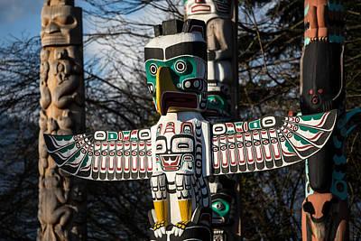 Photograph - Totem Poles Vancouver by Pierre Leclerc Photography