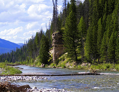 2013 Calendar Photograph - Totem Rock On The South Fork Of The Flathead by Merle Ann Loman