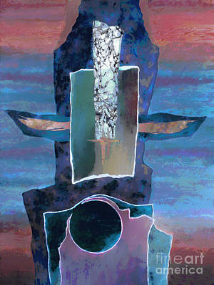 Totem Pole Painting - Totem by Ursula Freer