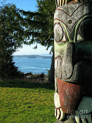 British Columbia Photograph - Totem With View by Sue Harper