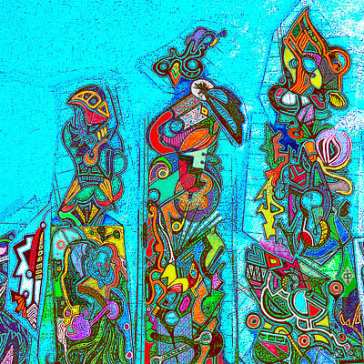 Mixed Media - Totemism by Doug Petersen