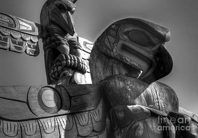 Indian Tribal Art Photograph - Totems 1 by Bob Christopher