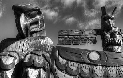 Indian Tribal Art Photograph - Totems 2 by Bob Christopher