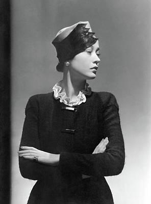 Toto Koopman Wearing A Reboux Hat Art Print