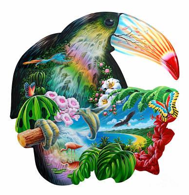 Toucan Digital Art - Toucan by Adrian Chesterman