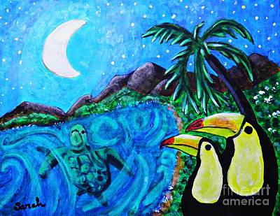 Education Painting - Toucan Bay by Sarah Loft