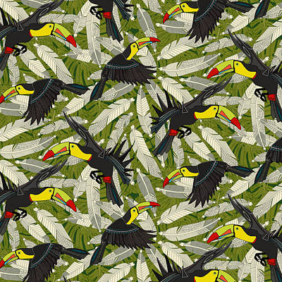 Toucan Painting - Toucan Jungle by Sharon Turner
