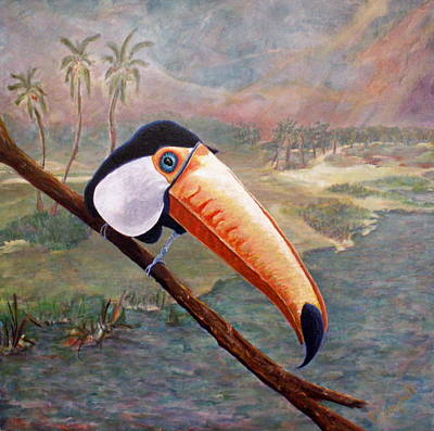 Painting - Toucan On A Limb by Trish Campbell