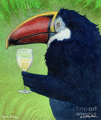 Toucan Tokay... Art Print by Will Bullas