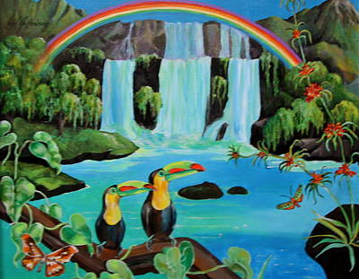 Toucans Rainbow Original