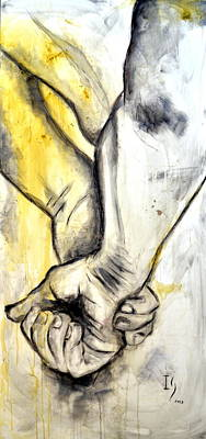 Surrealistic Painting - Touch by Ivan Guaderrama