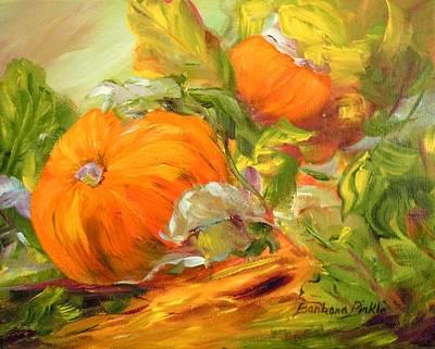 Touch Of Autumn Art Print by Barbara Pirkle