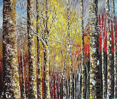 Pallet Knife Painting - Touch Of Gold by Shilpi Singh