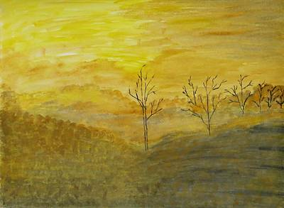 Scotch Painting - Touch Of Gold by Sonali Gangane