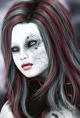 Digital Art - Touch Of Goth by Jutta Maria Pusl