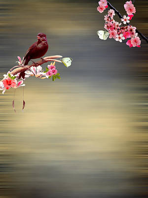 Cherry Blossoms Digital Art - Touch Of Paradise by Sharon Lisa Clarke