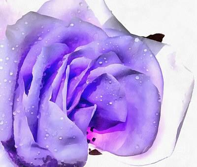 Purple Flowers Digital Art - Touch Of Spring by Krissy Katsimbras