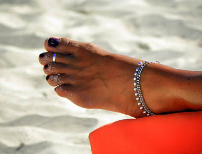 Ankle Bracelet Photograph - Touch Of Sun by Karen Wiles