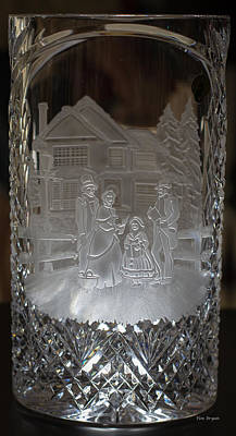Photograph - Touch Of The Creaftsman.......waterford Chrystal Glass  by Tim Bryan