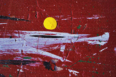 Moon Abstractions Photograph - Touch Of Yellow... by Tom Druin