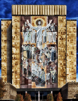 Autumn Art Photograph - Touchdown Jesus by Mountain Dreams
