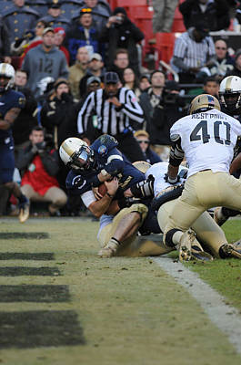 Turf Photograph - Touchdown Navy by Mountain Dreams