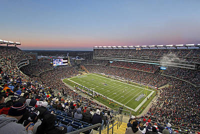 Athletes Royalty-Free and Rights-Managed Images - Touchdown New England Patriots  by Juergen Roth