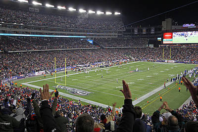 Gillette Stadium Photograph - Touchdown Patriots Nation by Juergen Roth