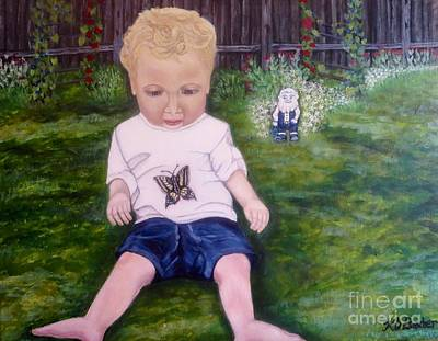 Art Print featuring the painting Touched By A Butterfly Kiss by Kimberlee Baxter