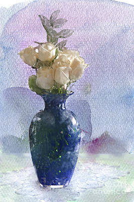 Digital Watercolor Photograph - Touched By Beauty by Betty LaRue