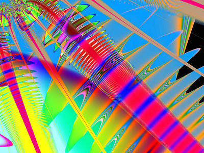 Digital Art - Touching Color by Wendy J St Christopher