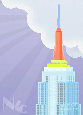Nyc Digital Art - Touching Heaven by Nishanth Gopinathan