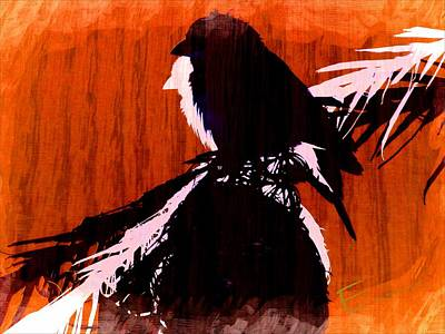Finch Mixed Media - Touching On Imagination by Ernestine Manowarda