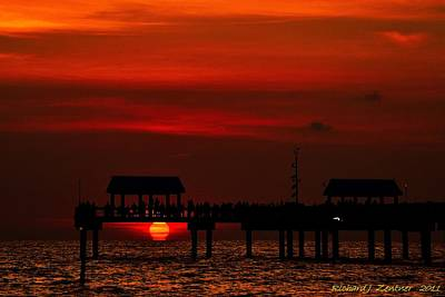 Art Print featuring the photograph Touching The Sunset by Richard Zentner
