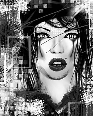 Cry Digital Art - Tough Love Black by Melissa Smith
