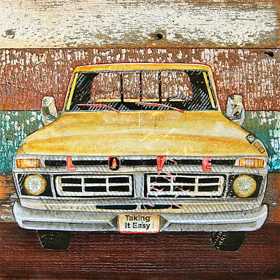 Truck Mixed Media - Tough Love by Danny Phillips