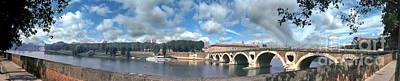 Photograph - Toulouse France Arch Bridge Pont Neuf Sud by David Zanzinger