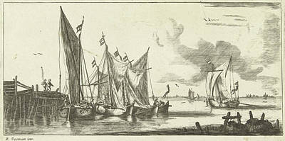 Tour Bangers Or Toll Damse Fishing Boats Art Print by Anonymous And Bernardus Kleynhens