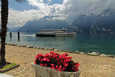 Tour Boat On Lake Garda Art Print