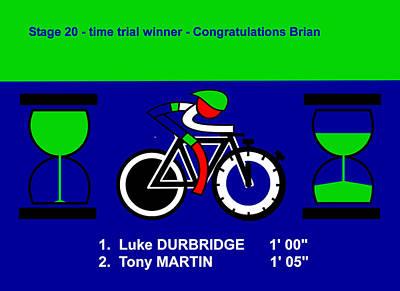 Digital Art - Tour De France 2014 During Stage 20 by Asbjorn Lonvig